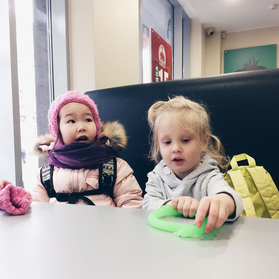 Baby Babyhood Childhood Cute Day Front View Full Length Girls Home Interior Indoors  Innocence Lifestyles Pacifier Real People Toddler  Togetherness Two People