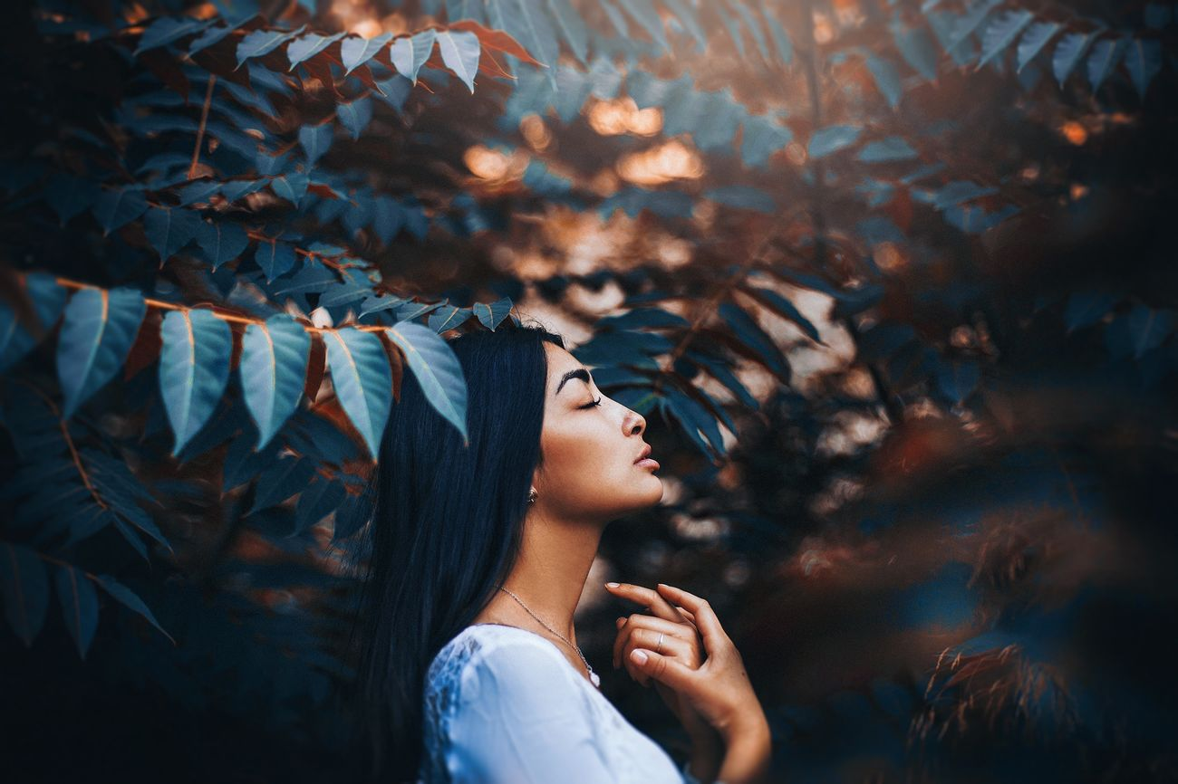 """Jungle II"" Nature Girl Beautiful Blue Orange Conceptual Fine Art Photography Girls The Portraitist - 2016 EyeEm Awards"