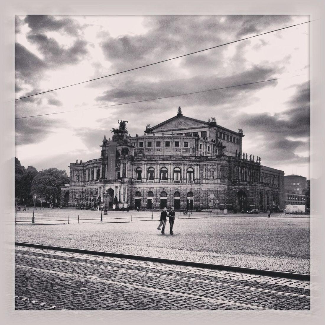Blackandwhite Semperoper History Through The Lens  Dresden - Barock Statt Beton
