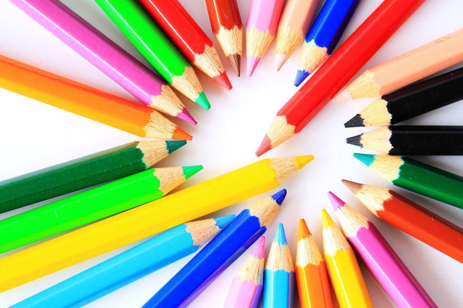 color is the characteristic of human visual perception described through color categories Abstract Accessories Art Character Close Up Color Color Background Color Palette Colored Pencil Colorful Coloring Pencils Concept Design Life Lines, Shapes And Curves Photo School Shapes And Patterns  Wallpaper White Background Wooden Texture