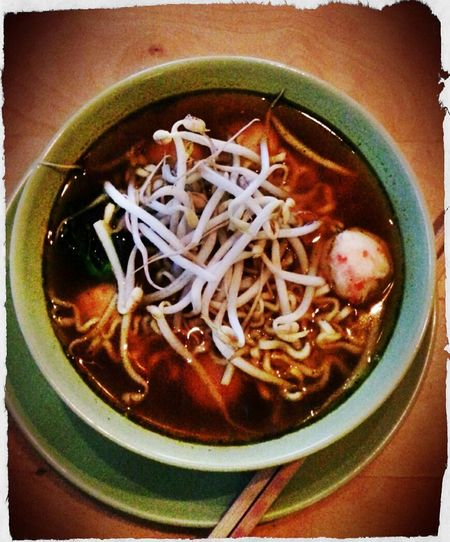 "My homemade super spicy ""RAMEN"" :-D and my Sweetie love it ;-) SUCCESS!!!"