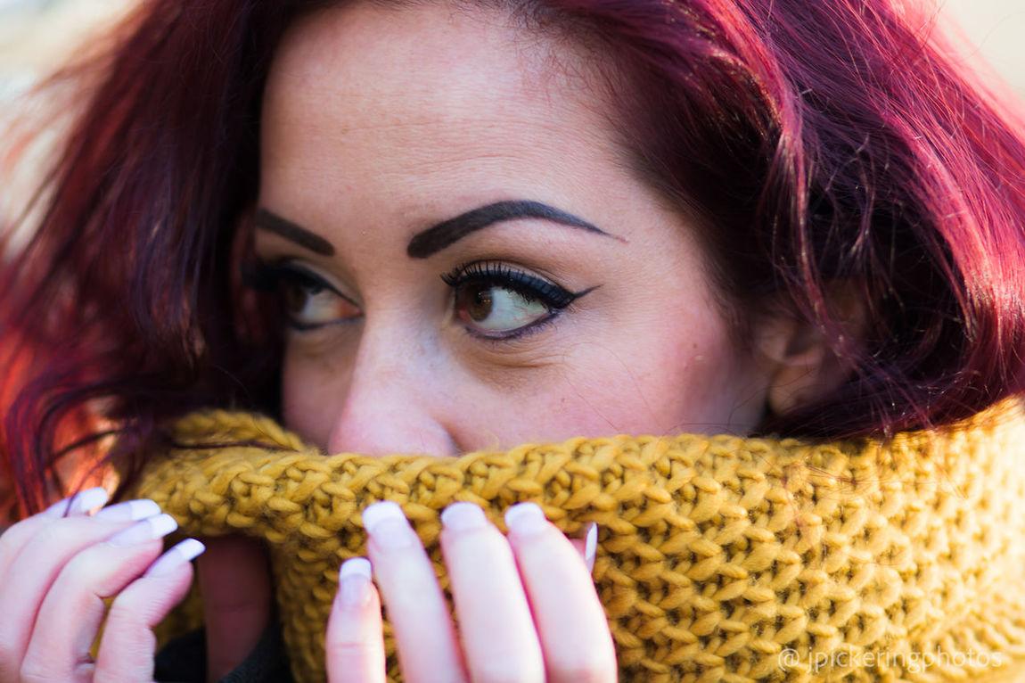 Beauty Close-up Portrait Irish Irishgirl Woman Women Portraits Eyes Eyesgreen Redhead Red Hair Redheads  Headshot Outdoors Knitted  Knitwear