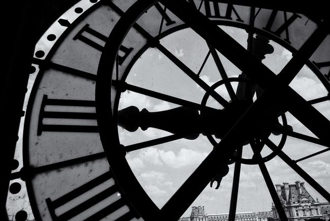 Paris Blackandwhite Bw_collection Clock