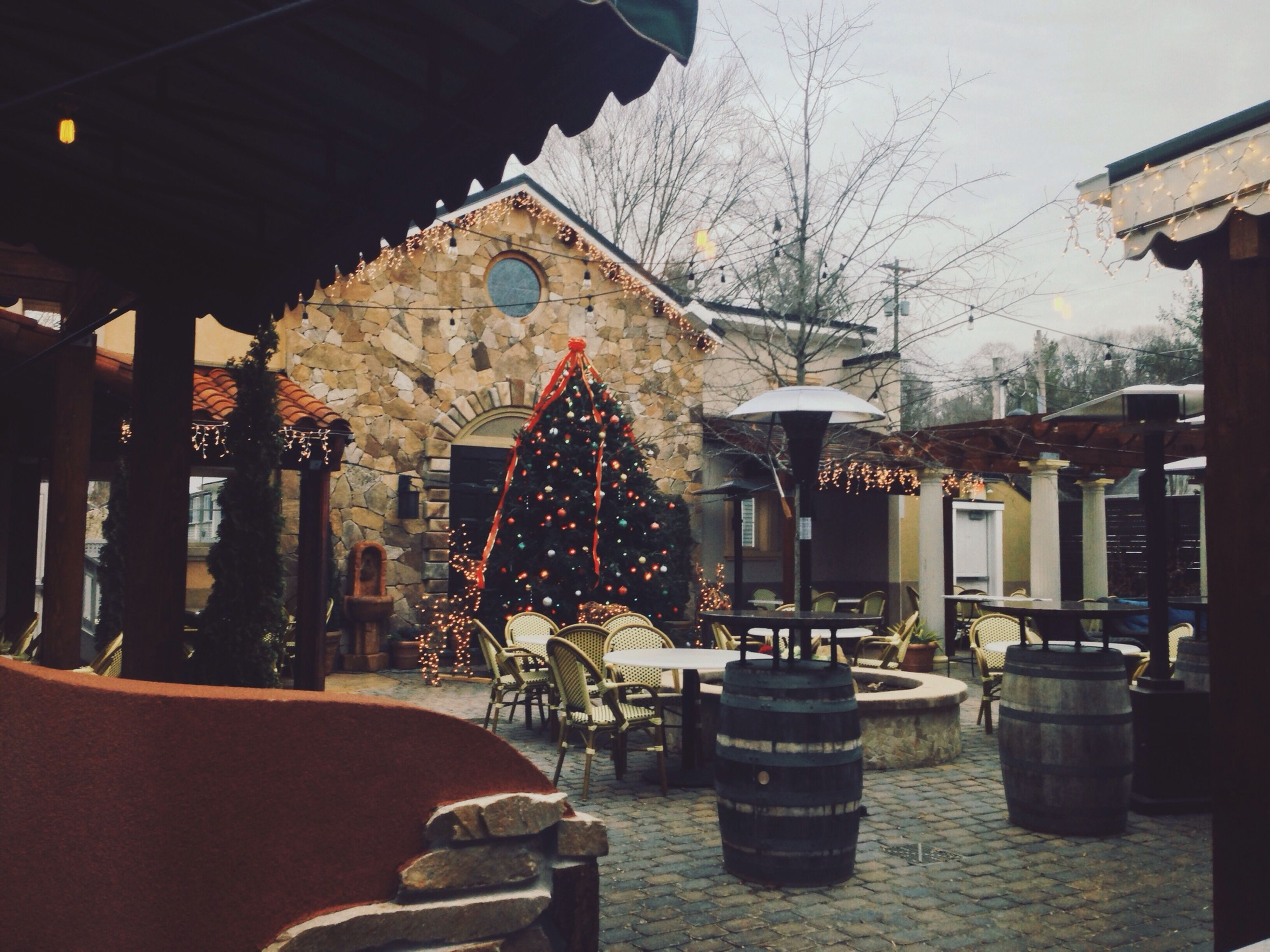 Holiday dining Holiday Holidays Christmas Christmas Tree Dining Patio Mamma Mia
