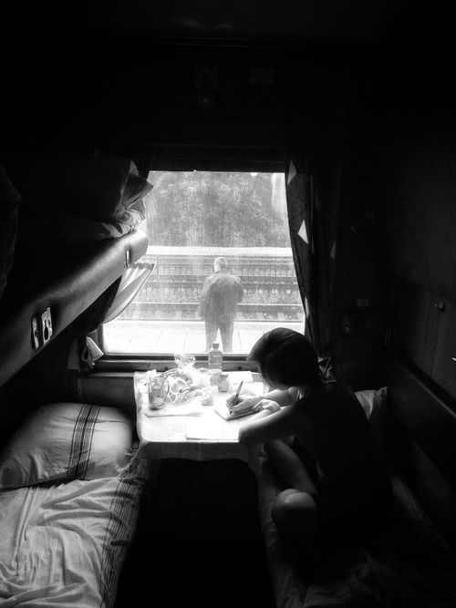 morning diary Beauty Redefined Fine Art Photography EyeEm Best Shots Traveling Railroad Station Train Trip Beautiful People Telling Stories Differently My Ukraine FUJIFILM X-T1 Girl Power Black And White Photography Colour Of Life Eye4photography  Blu N' Yello EyeEm Masterclass Feel The Journey Ukraine Watching People Railroadphotography Tadaa Community Shootermag EyeEmBestPics Eye4photography  EyeEm Gallery
