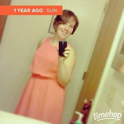 Crazy it's almost been a year since steve and I have been married! This is the dress I wore when we got married. ??? Weddingdress HappilyMarried Almostoneyear Happy timehop
