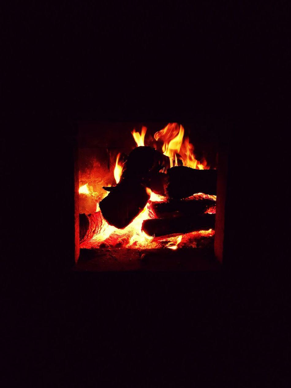 Fire Fireplace Flames Flames & Fire Warm Colors
