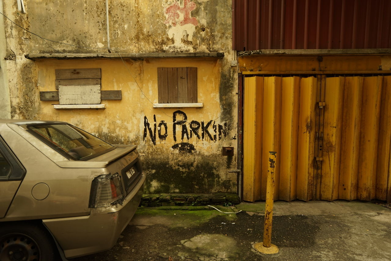 No but yes No Parking Taking Photos Carl Zeiss Sony A7 Malaysia Chow Kit Back Alley