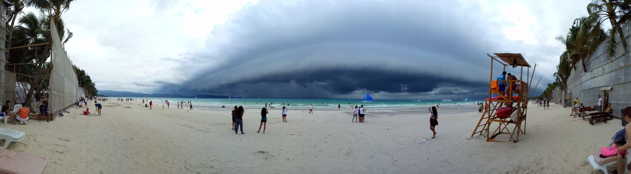 Cloud tsunami Oct 2016. Sea Panoramic Cloud - Sky Outdoors Beauty In Nature Beach Boracay Island, Philippines Boracay2016