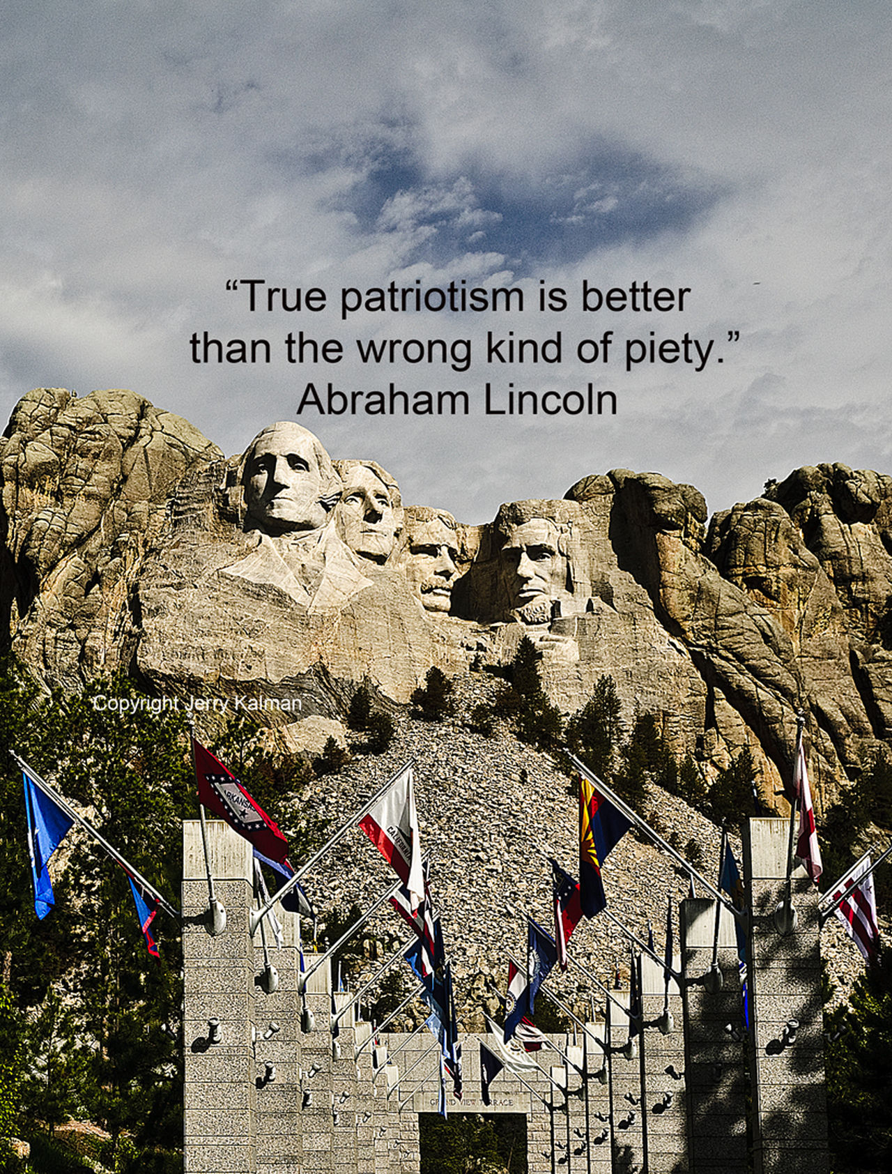 #AbrahamLincoln #quote on completion anniversary of #MtRushmore. If this #quotograph speaks to you, please share with others Faces Flag Lincoln Mount RTushmore National Monument Q Quote Quotograph