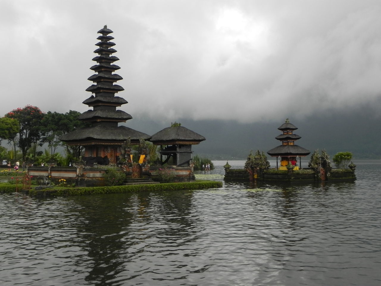 Water temple (Bali / Indonesia) Architecture ASIA Bali Built Structure Cloud Cloud - Sky Cloudy INDONESIA Lake Nature Reflection Religion Sky Spirituality Temple - Building Tranquility Travel Vacations Water Water Reflections Water-temple Waterfront