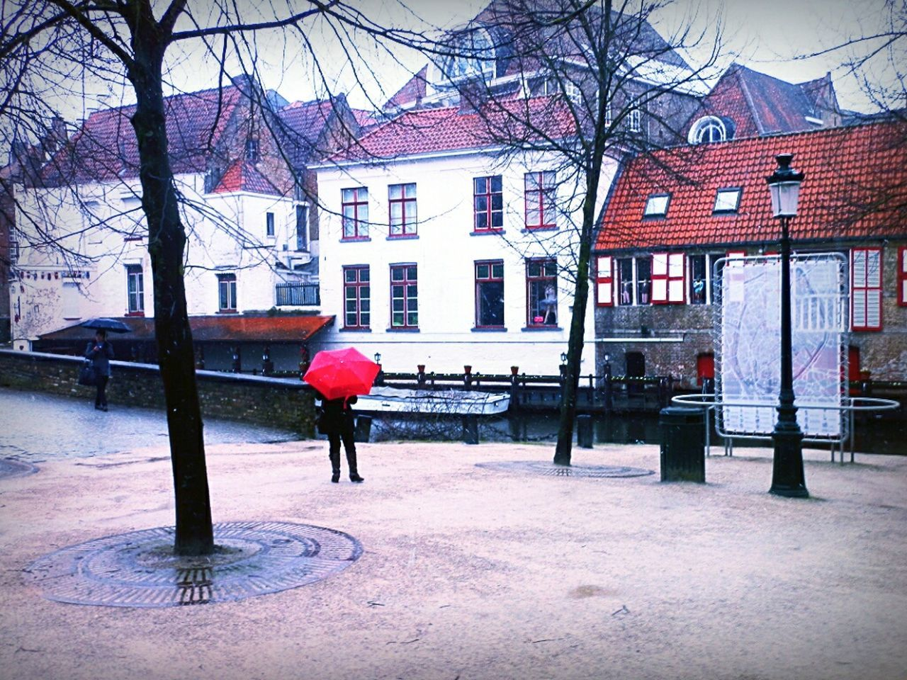 Taking Photos Rainy Days Light And Shadow Red Unbrella Urban Geometry City Life Architecture Starting A Trip Open Edit Belgium 👟📷☁💧☔🚌