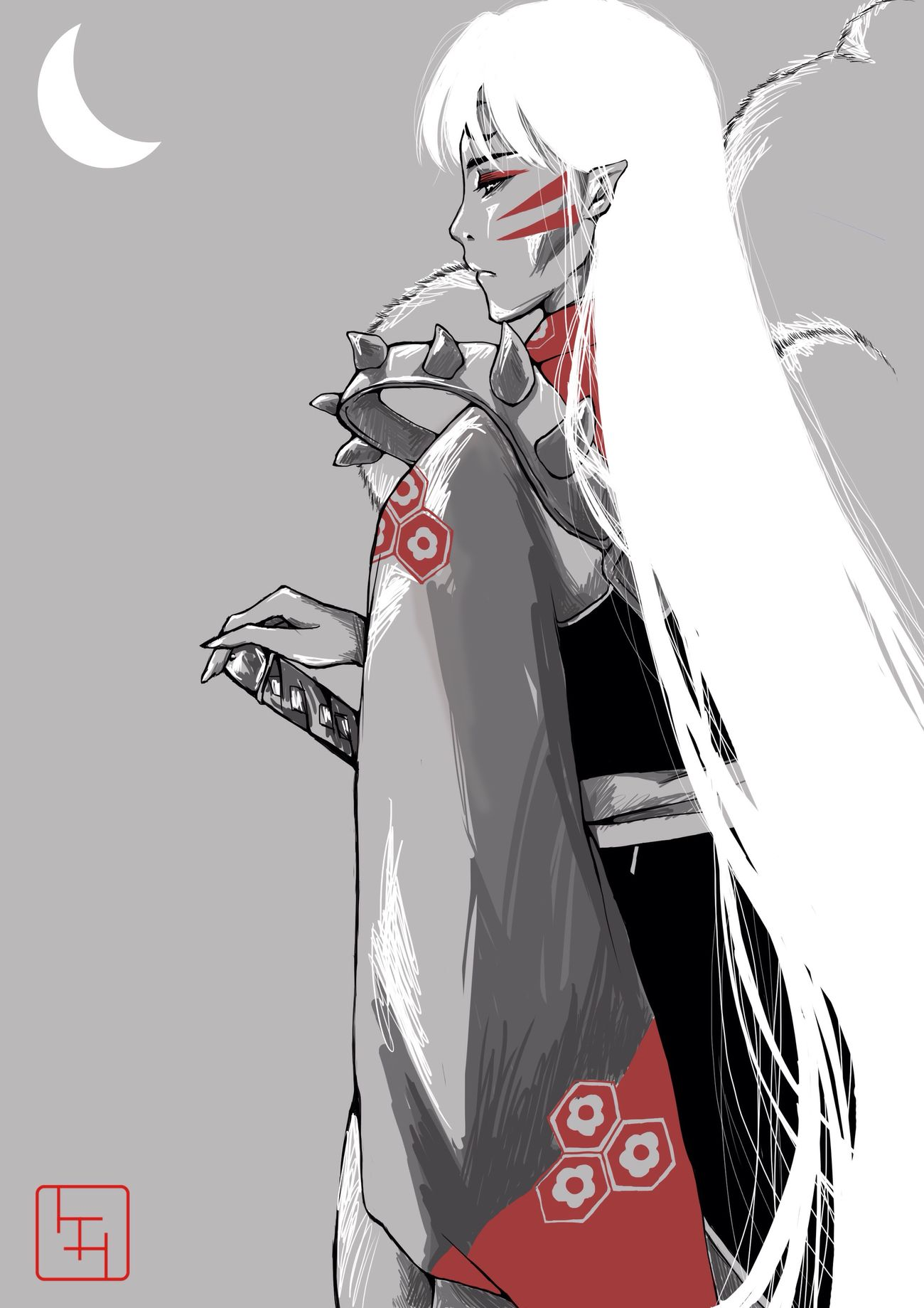 Art MyArt Anime Manga Inuyasha Fanart Digital Art My Art Sesshomaru