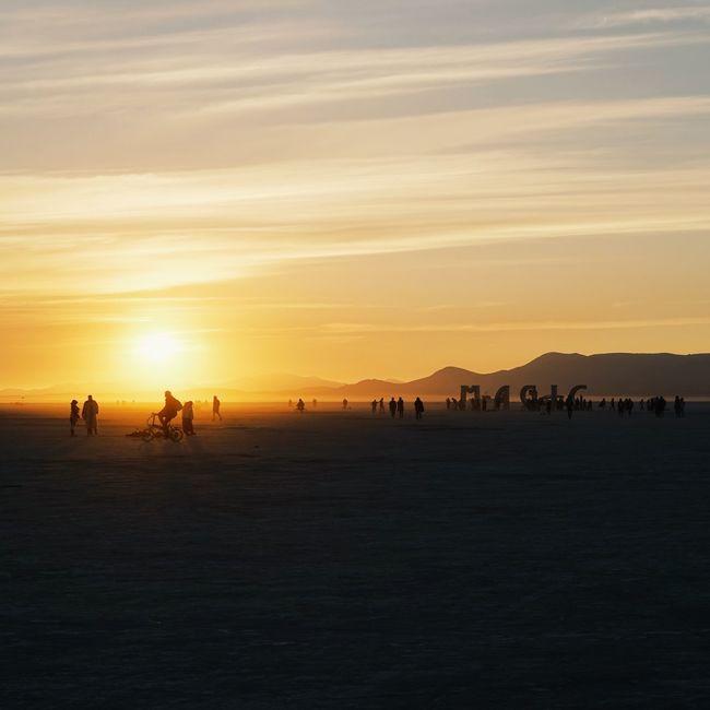Atmospheric Mood Beauty In Nature Burning Man Burning Man 2016 Sun Sunlight Tranquil Scene Tranquility