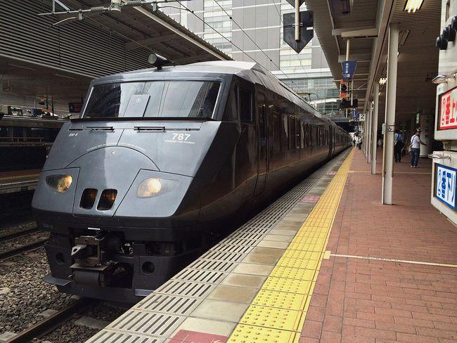 787系 JR九州 特急 博多駅 Limited Express Express Transportation Rail Transportation Public Transportation Trainphotography in Hakata , Japan
