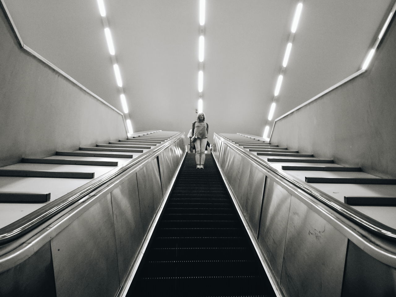 Escalator Steps And Staircases Transportation Subway Station Futuristic Walking Around Streetphotography Subway Platform VSCO City Life Youmobile TheMinimals (less Edit Juxt Photography) HuaweiP9 Napoli Fine Art Photography Metro Life Notes From Babylon Shootermag Huawei P9 Leica Napoli Street Discover Italy / With Ale Taking Photos Blackandwhite Black And White Blackandwhite Photography