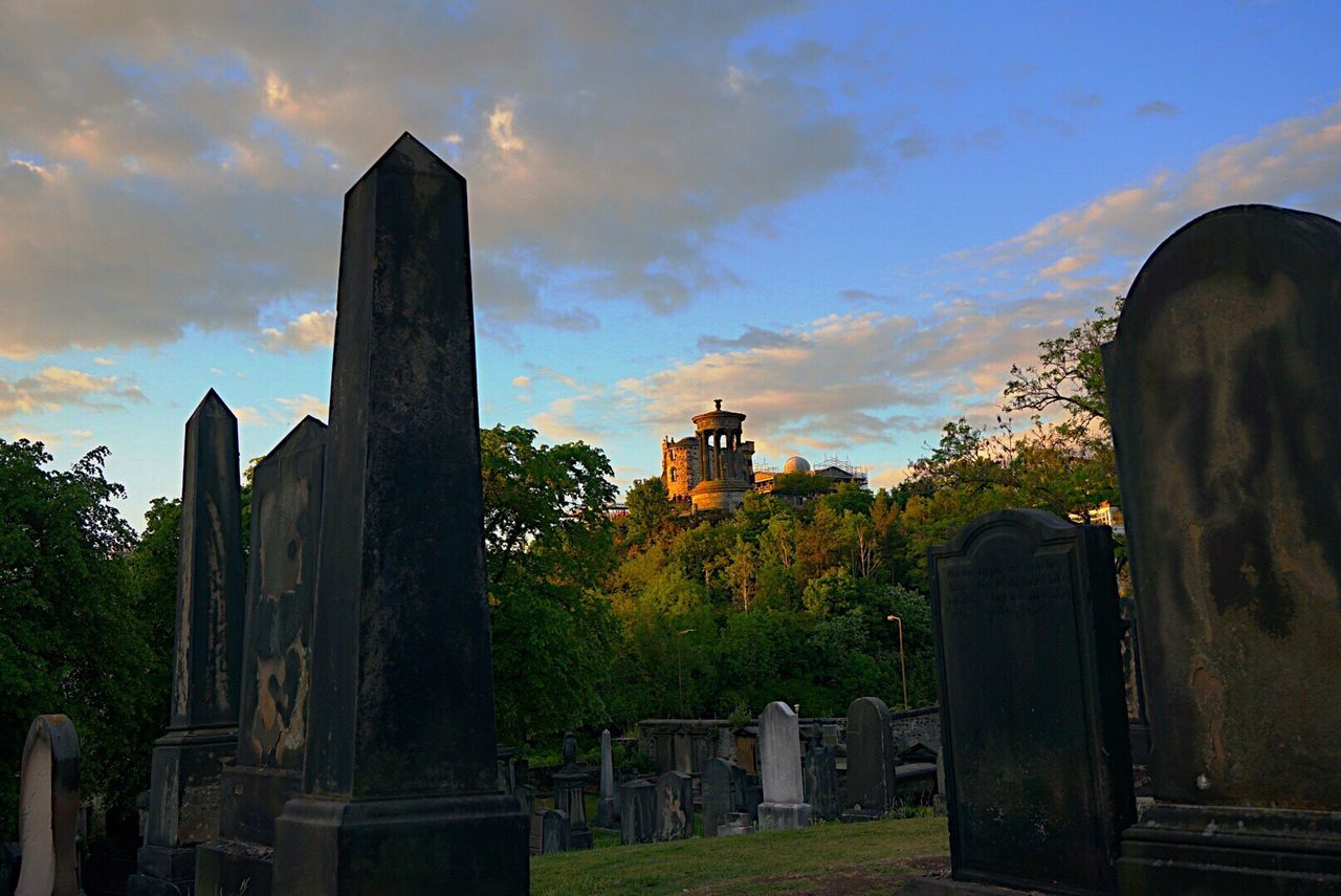 At the Graveyard with a View to Dugald Stewart Monument in Calton Hill Edinburgh Scotland Sunset Sunset_collection Sunset Silhouettes Cloud - Sky Cemetery Outdoors Landscape Landscape_Collection Fine Art Photography Ladyphotographerofthemonth Shootermag 500px Architecture Tree Building Exterior Cultures Old Buildings Vacations Tourist Attraction  Live For The Story Place Of Heart Out Of The Box The Great Outdoors - 2017 EyeEm Awards Been There.