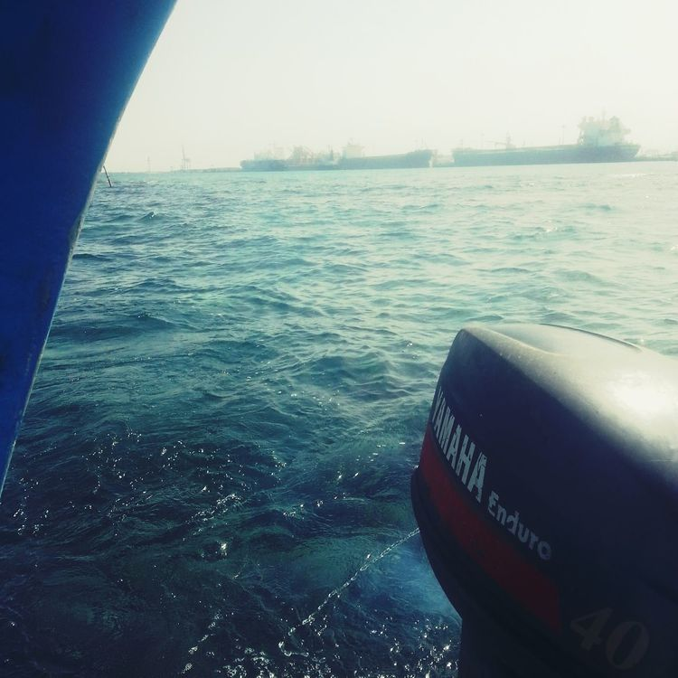 Sea Water Outdoors No People Scenics Tranquility Clear Sky Beauty In Nature Blue RedSea Sudan Portsudan
