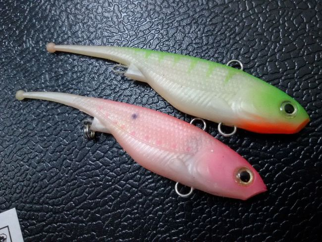 Close-up Fish Fishing Freshness Green Color Lure No People Pink Color Retail  Rubber Vibe Vibration