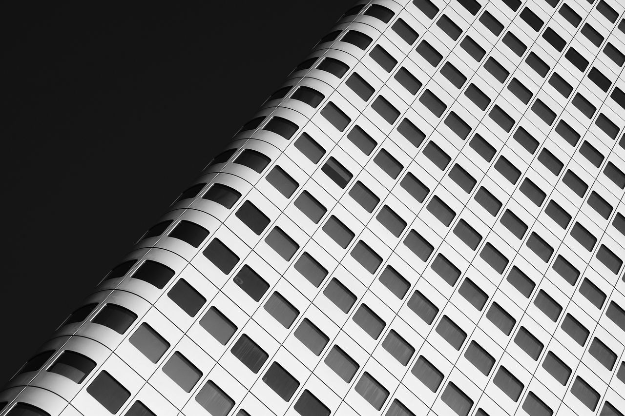 Abstract Architecture Building Exterior Built Structure Geometry Low Angle View Minimalism Modern Neatly Arranged Simplicity Skyscraper