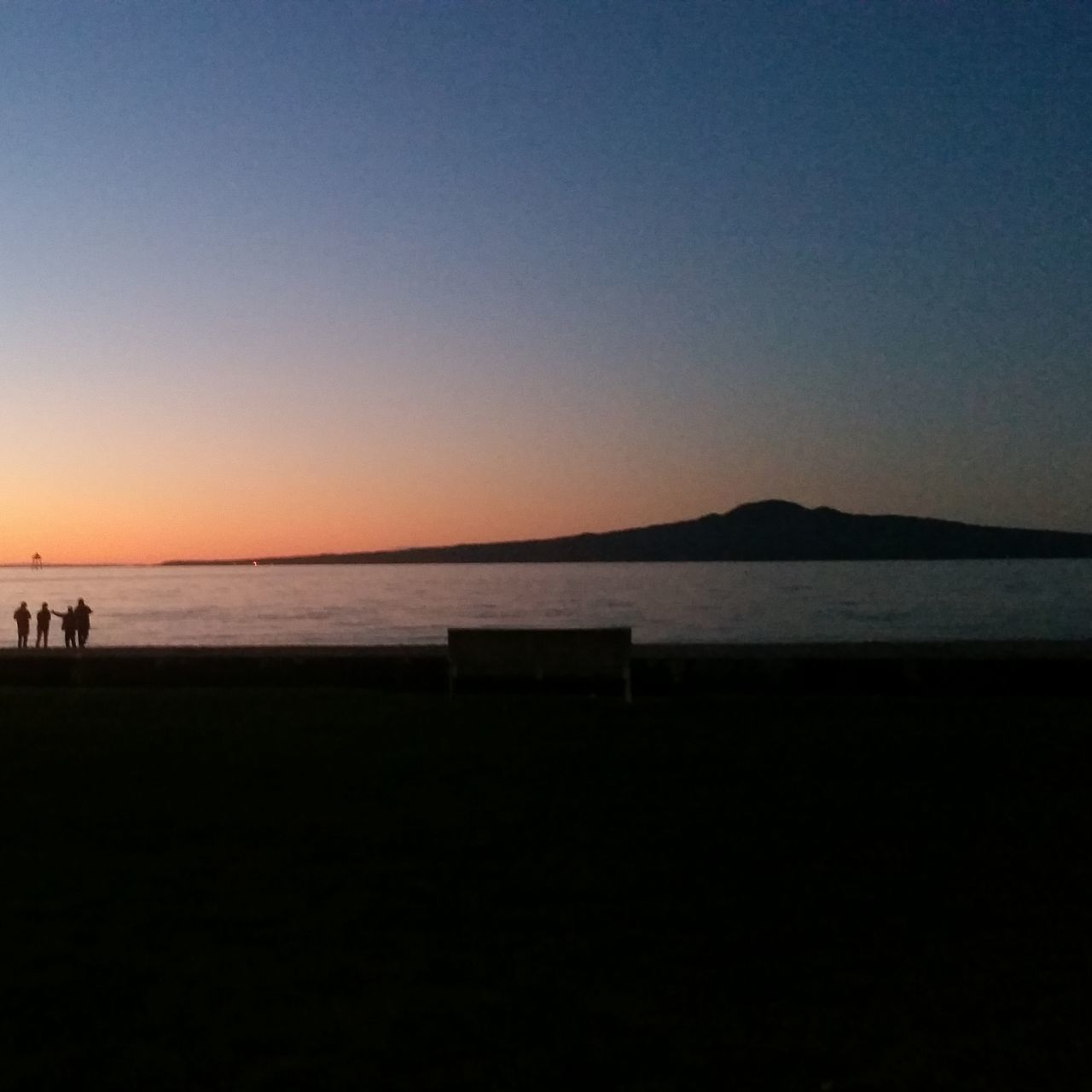 Auckland Mission Bay Rangitoto Sunset Volcano