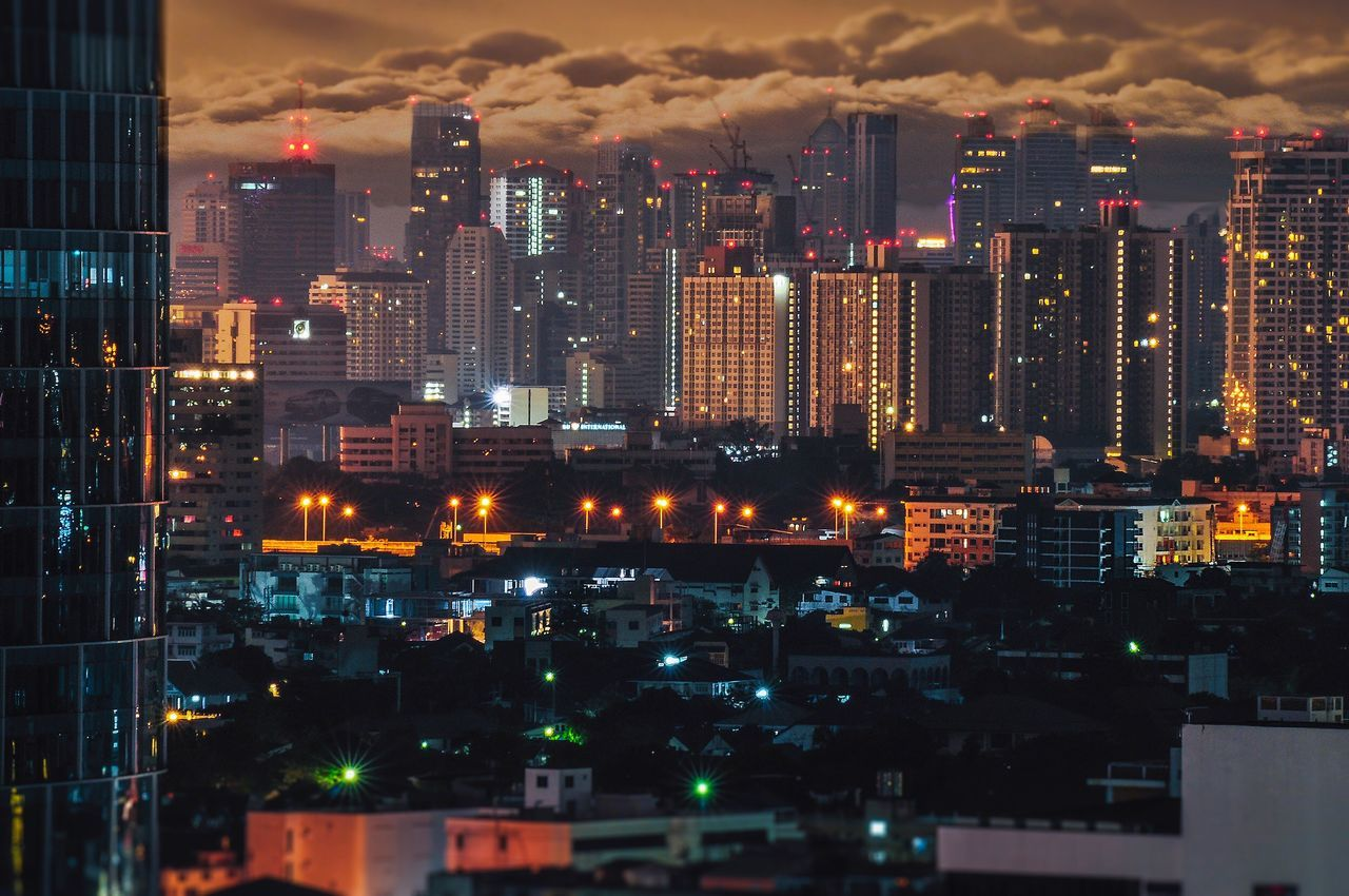My Bangkok City Cityscape Illuminated Night Skyscraper Urban Skyline Architecture Sky Building Exterior Travel Destinations Apartment Downtown District Modern Tower No People Outdoors City Life
