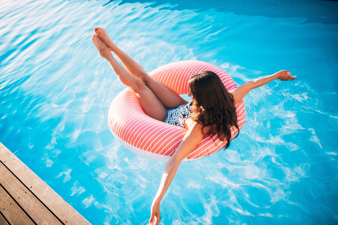 Inflatable  Pool Day  Ring Summer Swimming Woman Women Around The World