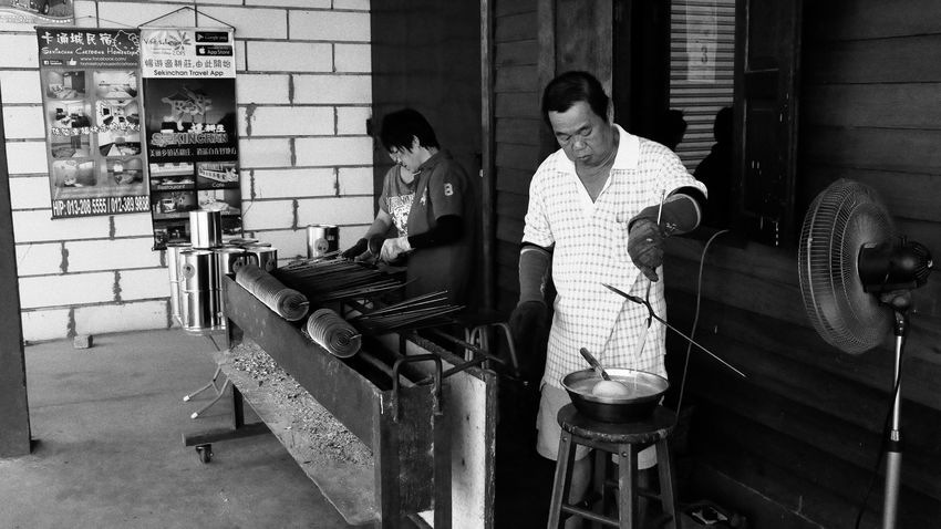 Handmade Snack Hawker Monochrome Streetphotography Life ASIA For A Living