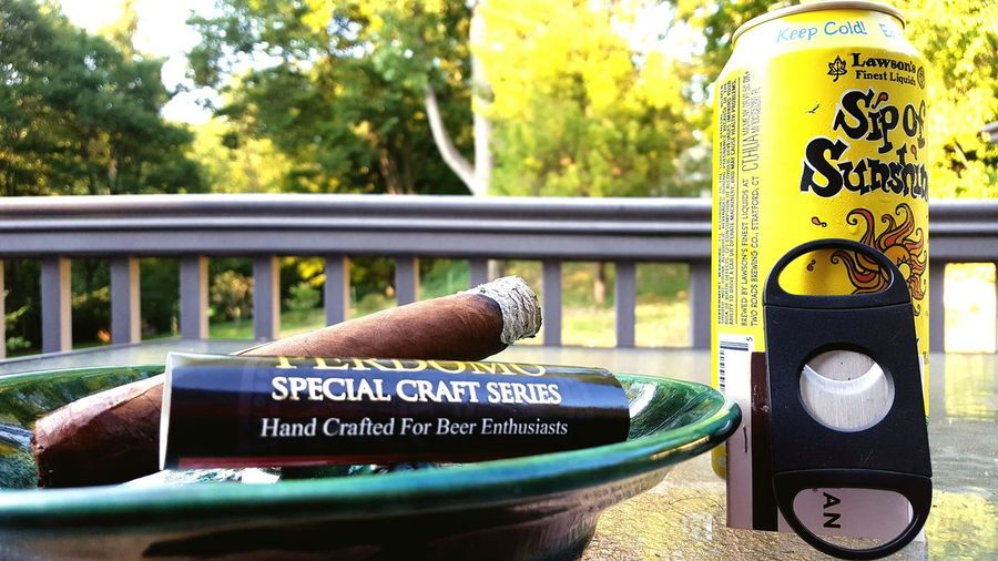 Cigar Time Cigars Cigar Smoking Beer Beer Time Beer O'clock Sippin Sip Of Sunshine Perdomo Deck Relax Relaxation Relaxing Outside