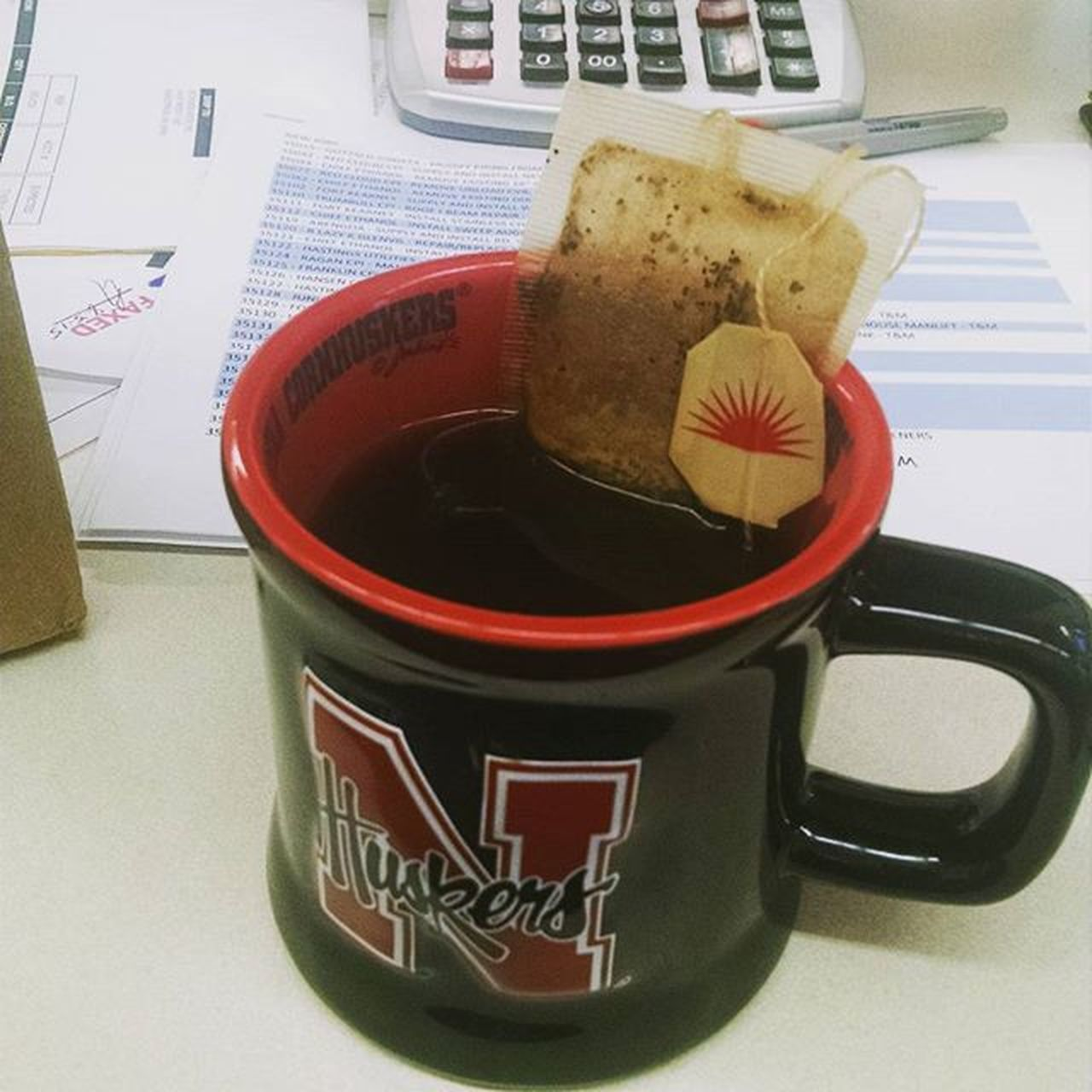 So this is how Dependant I'm getting on Coffee in the Morning . Lipton instantcoffee reallynottoobad husker mug work GBR