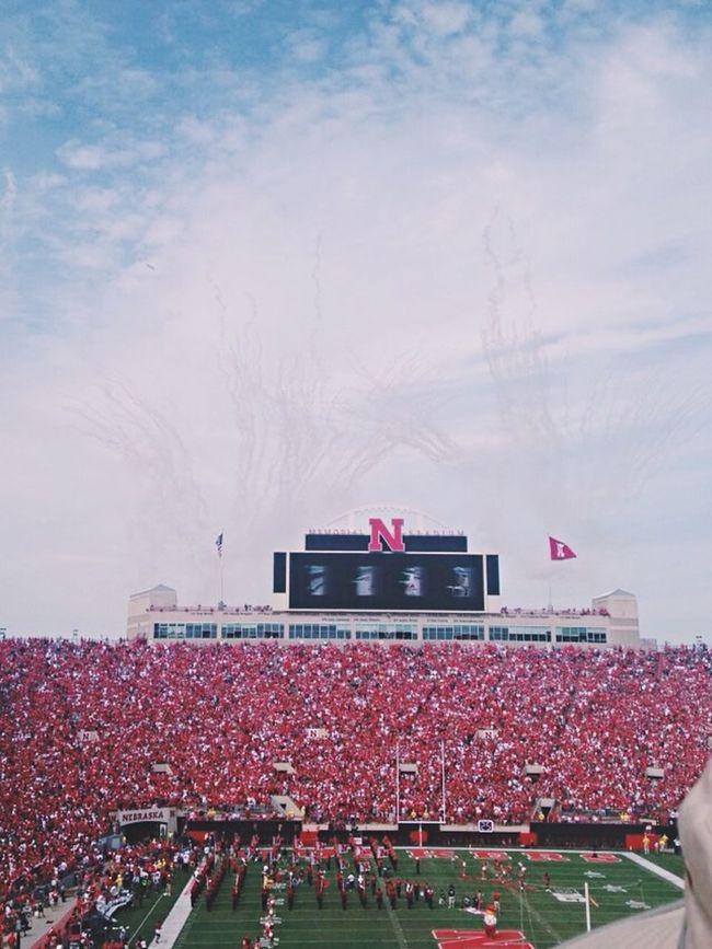 Football Game❤❤ Photography Huskers Nebraska Football Sports Stadium Red Go Big Red BYU