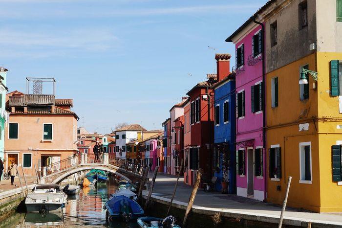 EyeEm Best Shots Cloud - Sky Exploring Traveling Travel Destinations Burano Venice Bridge Italia Beauty Colors Canal