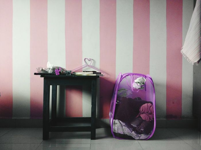 Pink Color No People Indoors  Day Wastepaper Basket Millennial Pink Mobile Photography Smartphonephotography