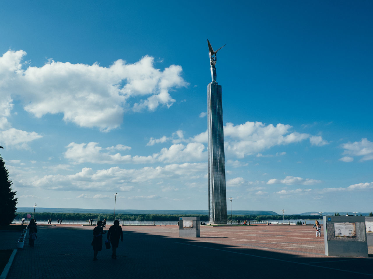 Architecture Built Structure Cloud - Sky Day Outdoors Real People Russia Samara Sky Statue