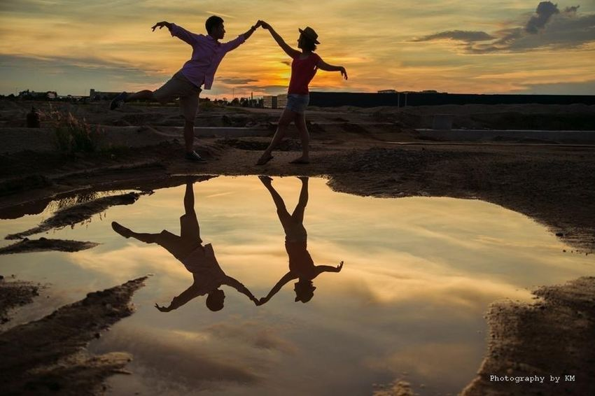 Dance With Me - Prewedding By KM Reflections Sunset Impossible Moments