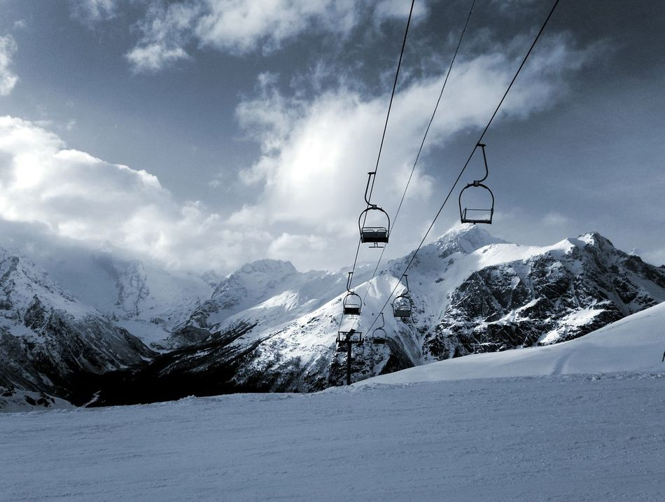 Winter Mountains Karachaevo Circassia Dombay Dombai Huawei Honor7 Russia Backgrounds Polar Climate Cold Day Cold Temperature Outdoors No People Landscape Funicular Beauty In Nature Cloud - Sky Mountain Range Mountain Snow Freshness Skiing Snowboarding