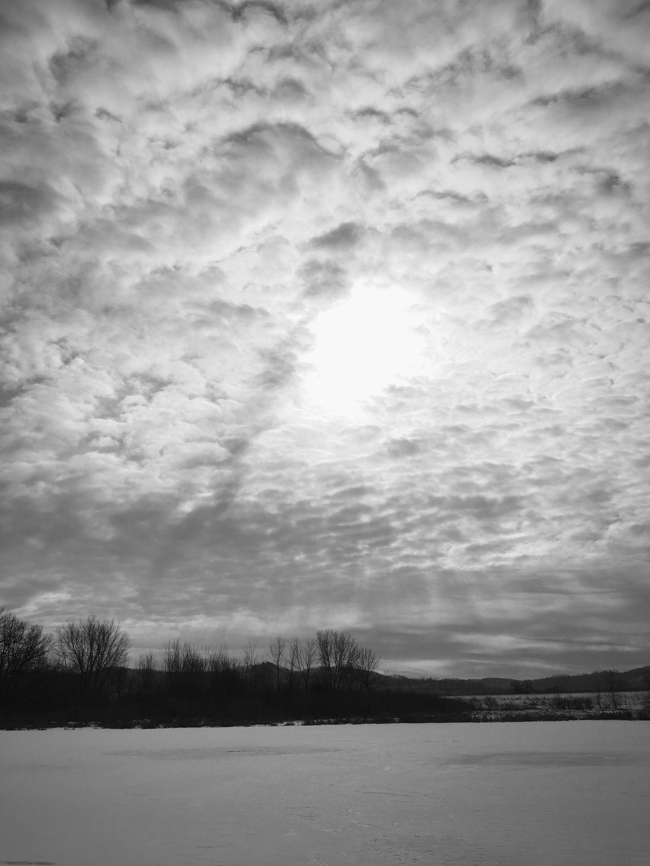 Wisconsin Winter Winterinwisconsin Lake Ice Snow Sun Sun Rays Clouds