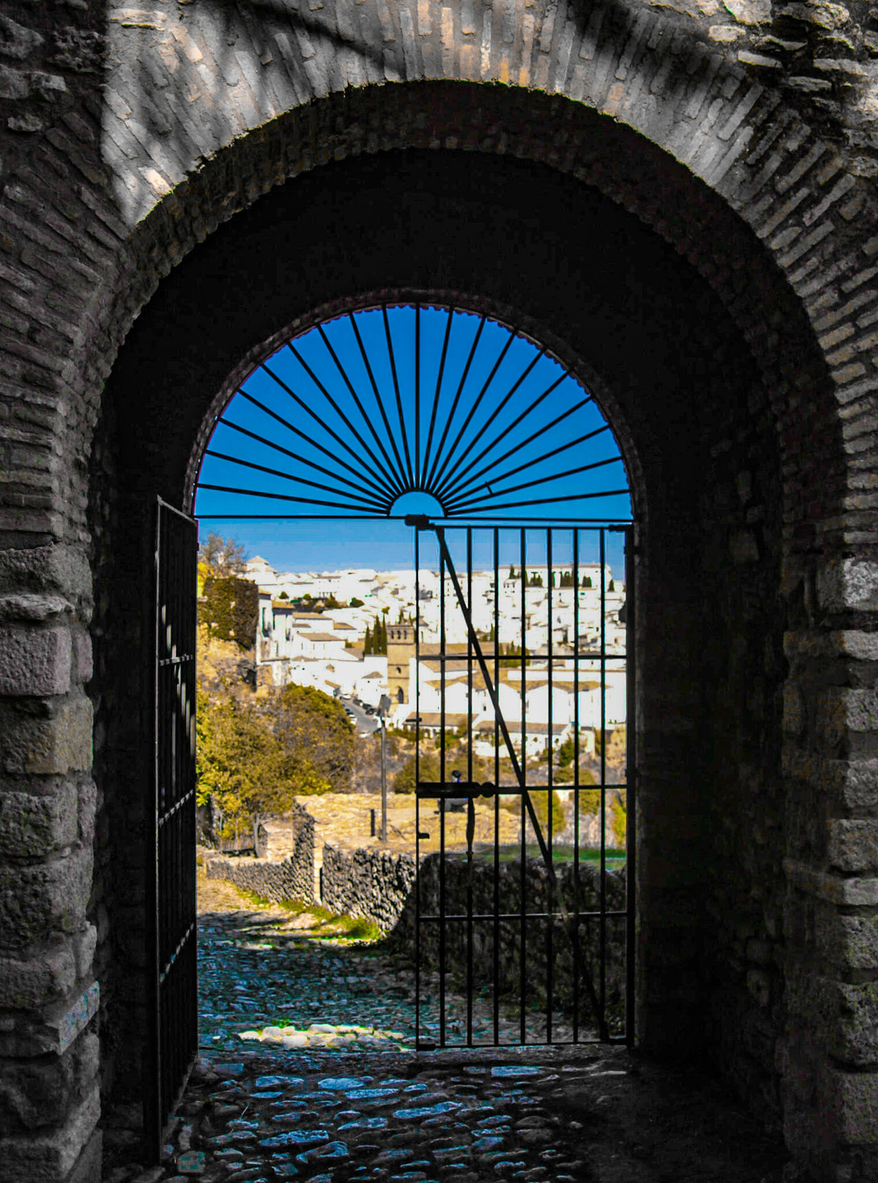 Architecture Arch No People Built Structure Day Ronda, Malaga EyeEm Gallery Ronda Spain Check This Out Sky City Architecture Ronda Gateway Arch Gateway Door Cityscapes Framed Two Tones