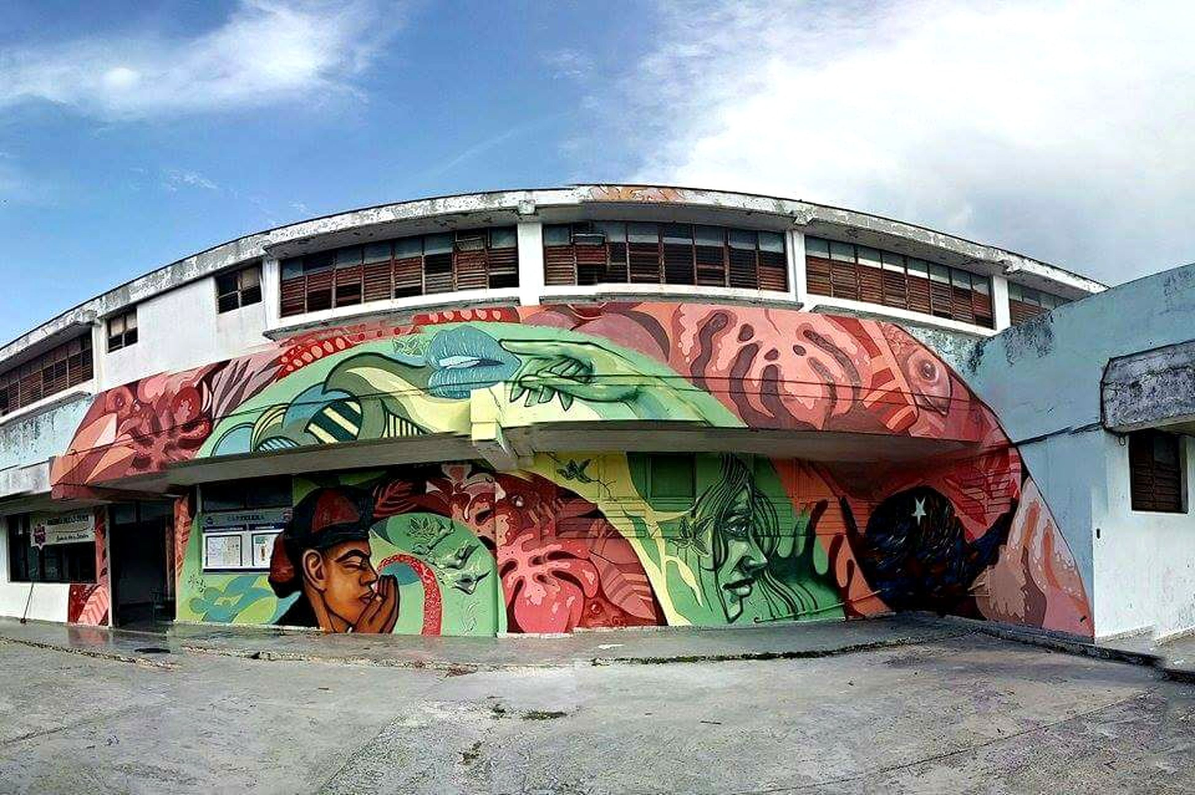Casa de la cultura Alamar Cuba Cuba Mural Streetart Art ArtWork Arte Urbano  Alamar BienalDeLaHavana