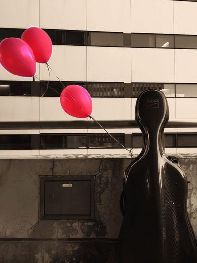 Cello and balloons Cello N Me Cello Travelingfoot Balloons