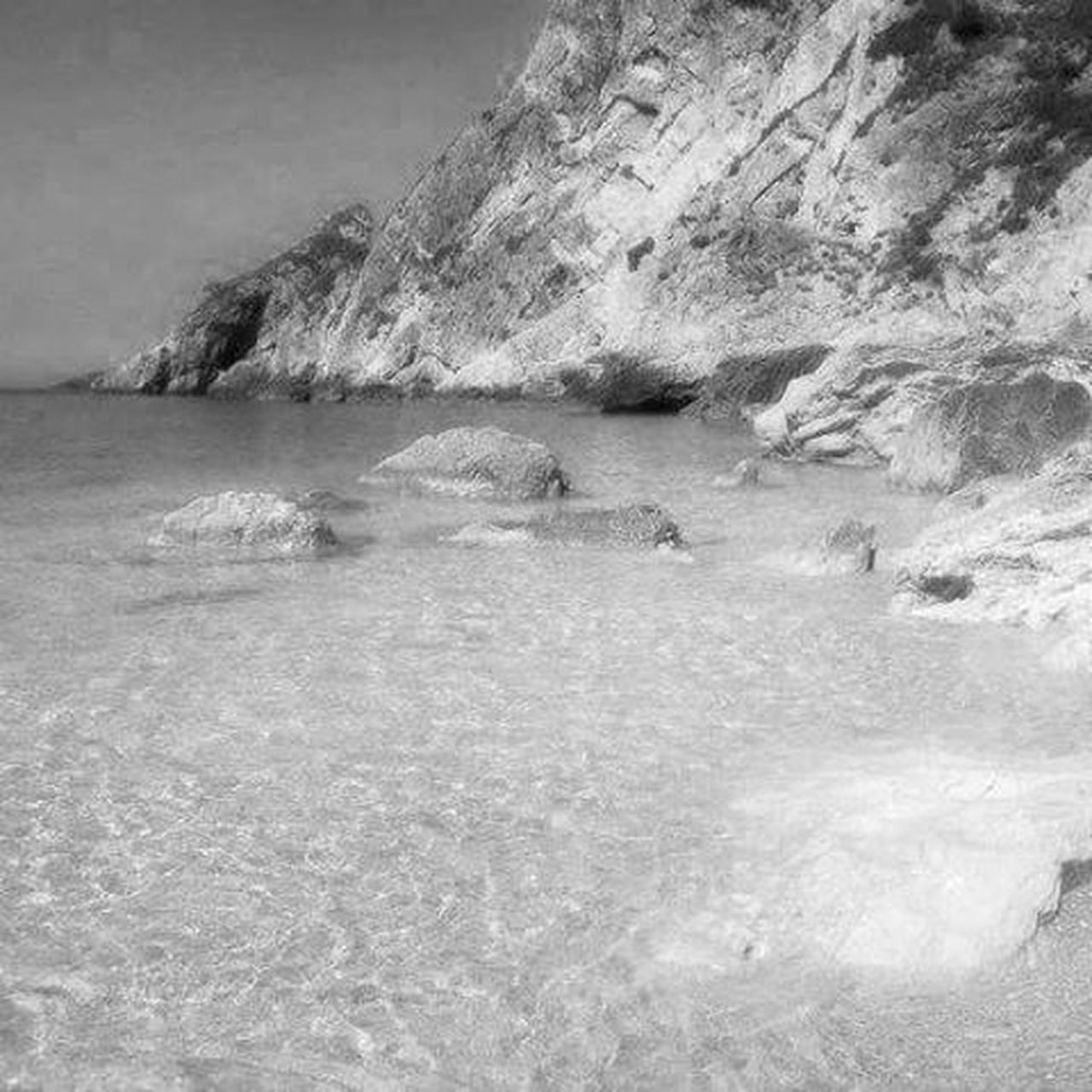 Silver sea Othoni Greece Blackandwhite Travelphotography Sea Silver  Nature
