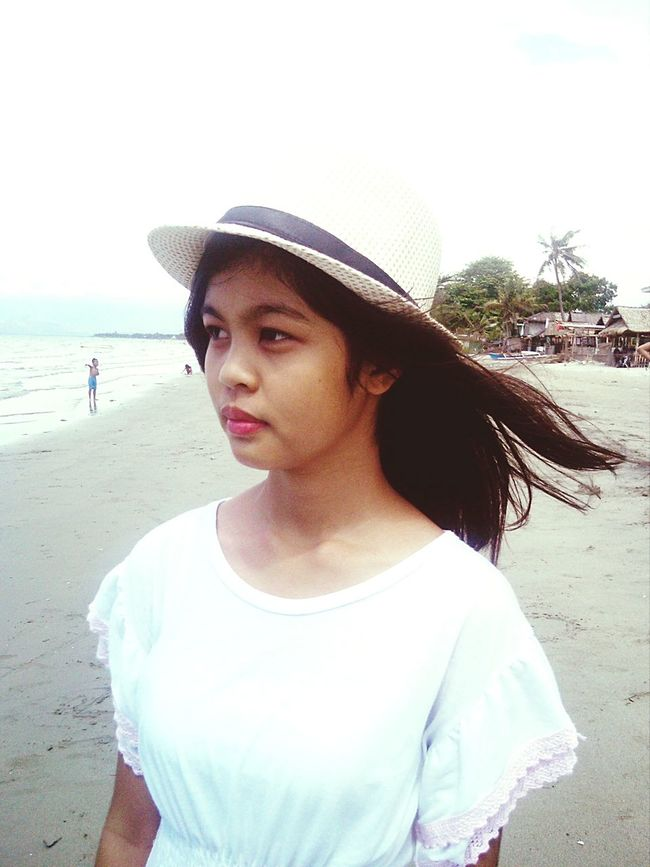 Portrait Color Portrait Being A Beach Bum Relaxing Hat Sea Eyeem Philippines