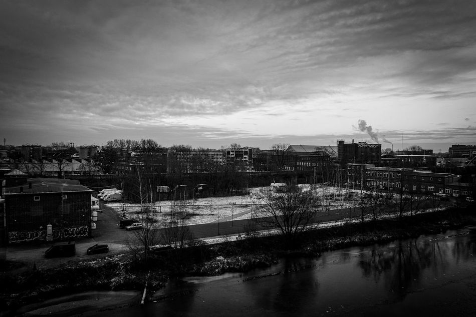 Out Of My Office Sky And Clouds Moody Sky Atmospheric Mood Canal Black And White Blackandwhite
