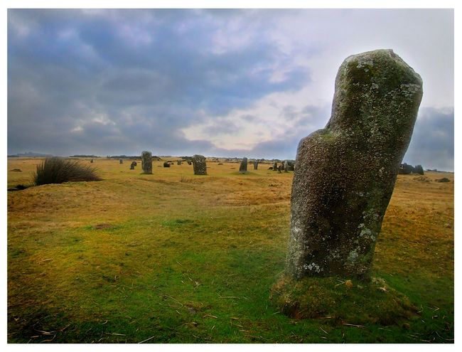 The Hurlers at Minions The Hurlers MoorsMinions Stone Circle Ancient Monument Cornwall Bodmin Moor Walking Around Travel