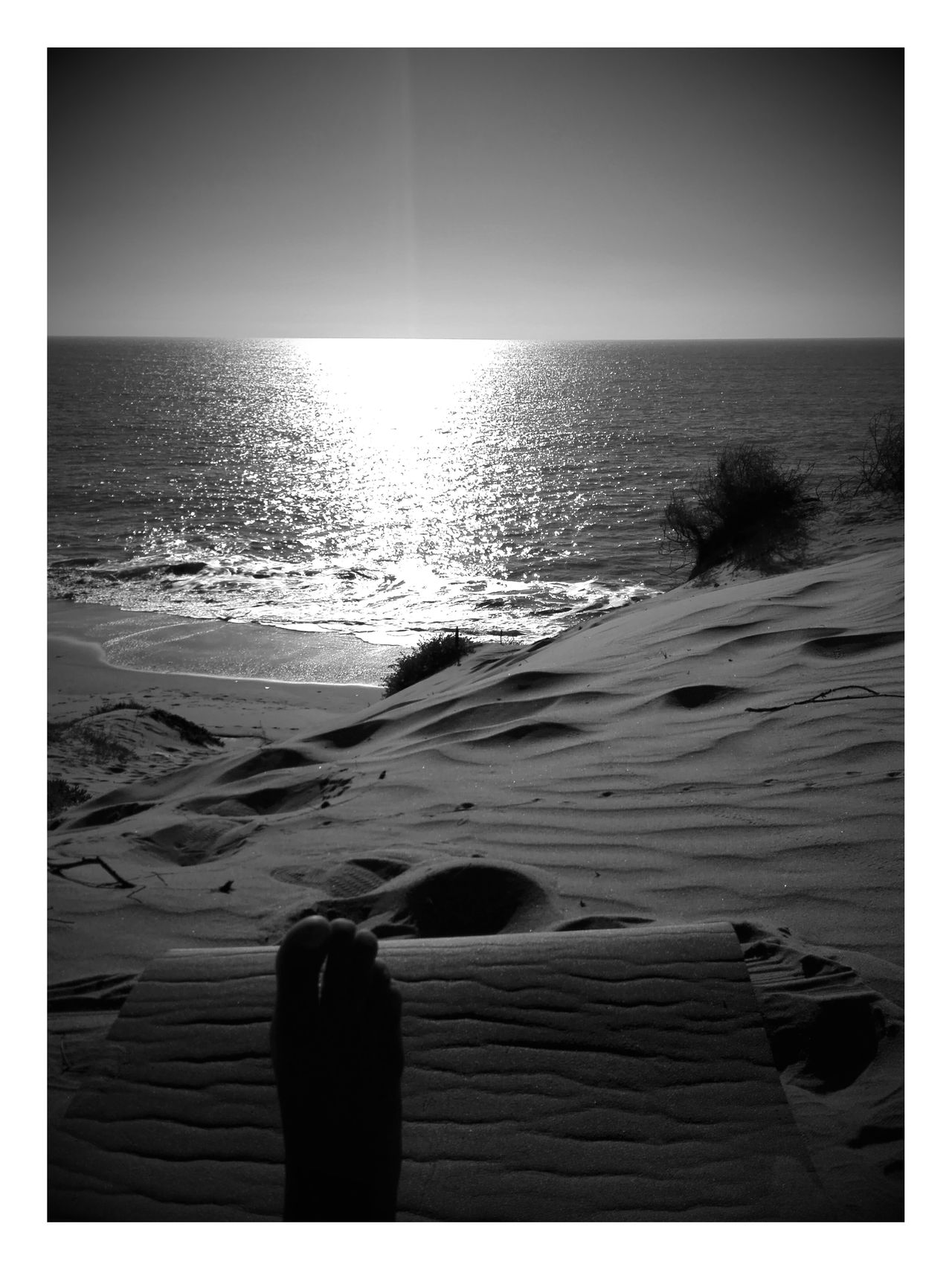 Beach Nature Sea Tranquil Scene Horizon Over Water Blanco Y Negro Black & White Atardecer Black And White Photography