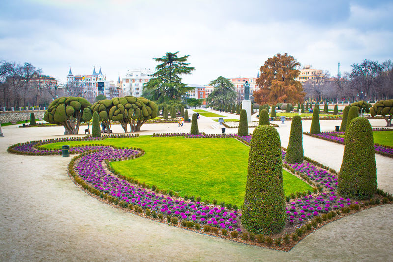 Culture Day Footpath Formal Garden Garden Grass Green Green Color Growth Holiday Lawn Lush Foliage Madrid Spain Order Outdoors Park Park - Man Made Space Parque Del Retiro Plant Residential District Tree Tropical Climate Seeing The Sights Yeah Springtime!