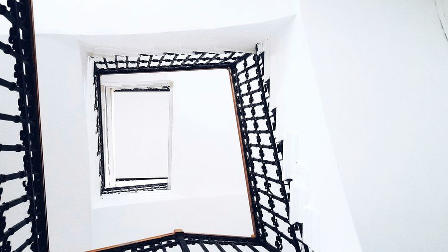 Indoors  Architecture Spiral Spiral Staircase Steps And Staircases Staircase White Background Built Structure White Stairs Geometry Stairs