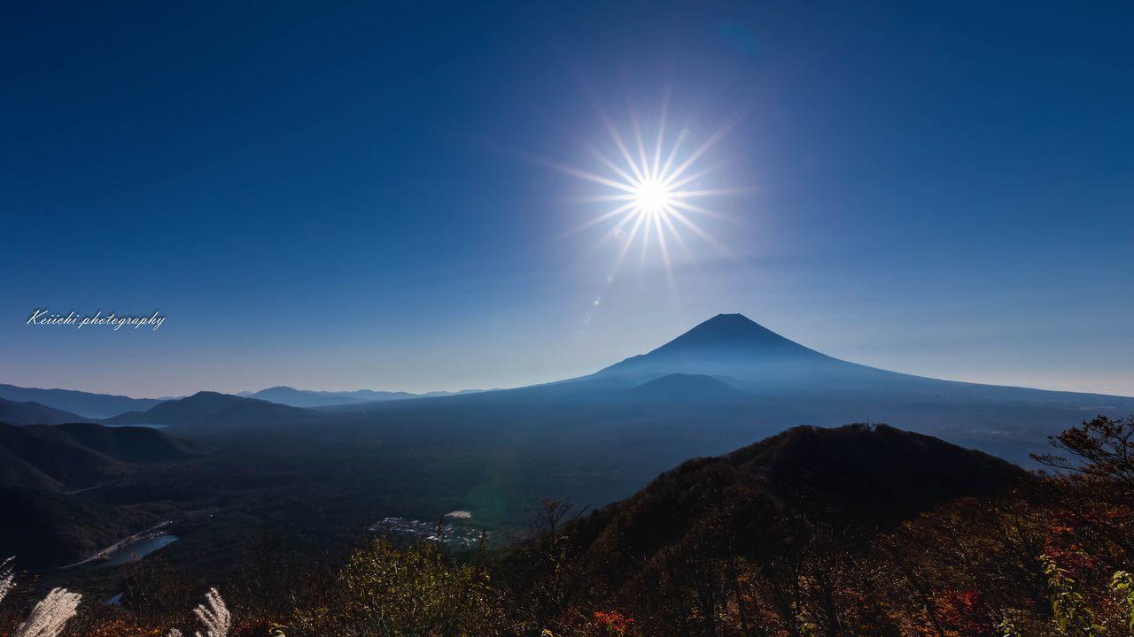 Mt.Fuji 富士山 Mountain Sun Beauty In Nature Sunlight Sunbeam Landscape Japan 2016 富士山大好き Mountain Range Japan Photography
