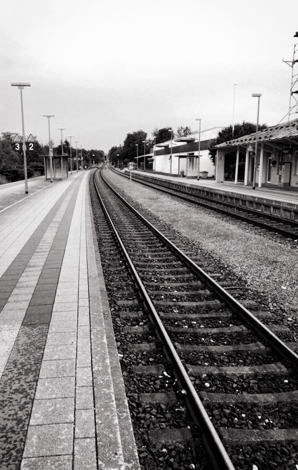 at the Train Station with my Iphone6 Railway Outside Taking Photos Empty Places Alone Public Transportation