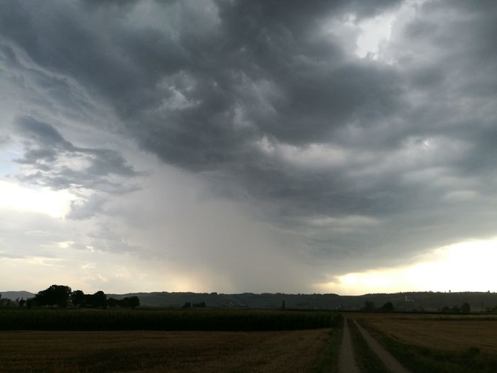 Dramatic Sky Storm Cloud Storm Cloud - Sky Landscape Field Weather Cloudscape Rural Scene Thunderstorm Beauty In Nature Extreme Weather Agriculture Scenics Outdoors